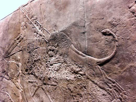 大英博物館(その3、ライオン狩...